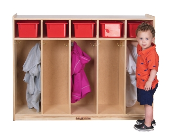 Value Line Toddler Locker with Upper Cubbies for 5, Assembled, 48
