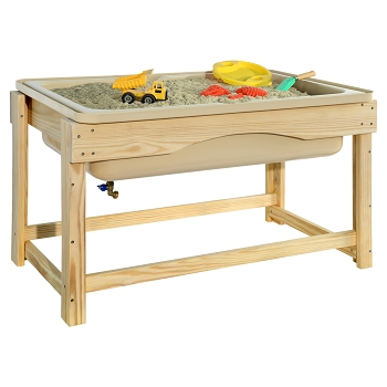 Outdoor Sensory Table for Sand and Water Play, Preschool Size