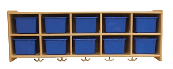 Value Line 10 Section Wall Preschool Locker, Without trays, Fully Assembled