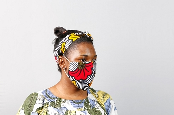 10% Off orders of $50+ on items included in our Back to School Sale: African Wax Print Fabric Protective Face Masks with filter, Preschool - Adult sizes, Sets of 6 or more