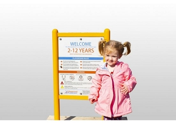 Welcome to our Playground! Double Sided Safety Sign with Free Customization