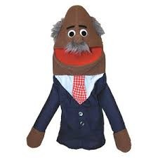 Half Body African American Grandpa Character Puppet