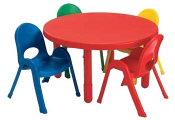 36'' Round Value Table and 4 Chair Preschool Set