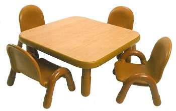 Baseline Square Toddler Table and Chairs Set