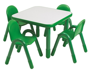 Baseline Square Preschool Table and Chairs Set