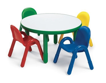 Baseline Round Preschool Table and Chairs Set