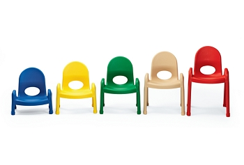 Value Stack Chairs - 4 Pack - Choice of 5 Heights and 6 Colors