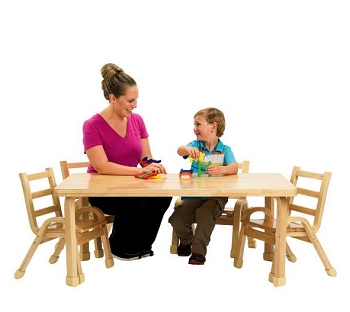 Natural Wood Rectangle Table - Order Chairs Separately