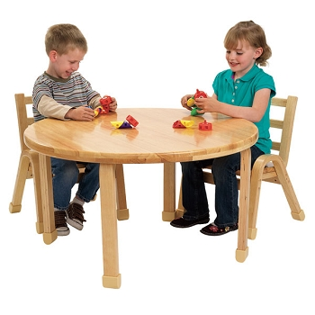 Natural Wood Round Table - Order Chairs Separately