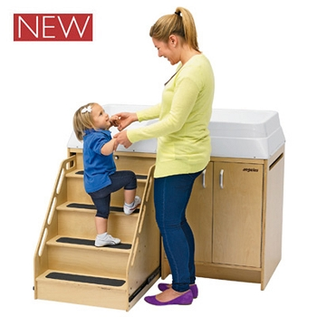 Changing Table with Locking Stairs