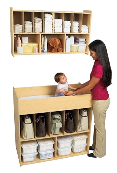 Value Line Changing Table and Optional Overhead Diaper Storage
