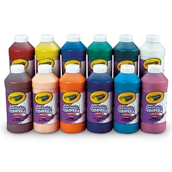 Artista II Washable Tempera Paint, 16 oz - Choice of 12 colors