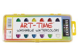 Art Time Washable Watercolors with Brush - Set of 16