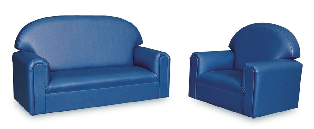 Just Like Home' Premium Infant-Toddler Vinyl Sofa and Chair Set
