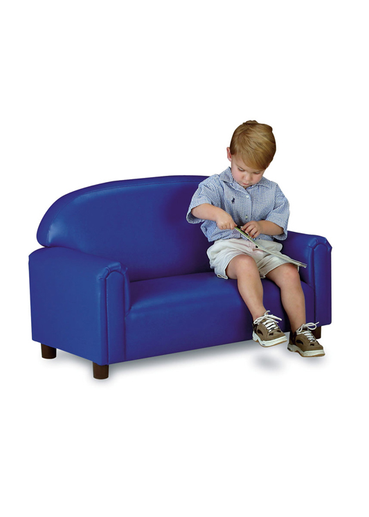 Just Like Home' Premium Preschool Vinyl Sofa - Choice of Color