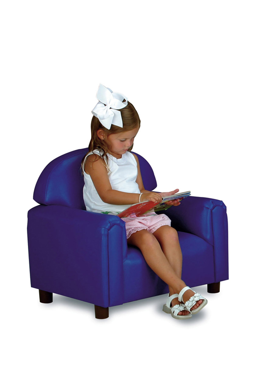 Just Like Home' Premium Preschool Vinyl Chair - Choice of Color