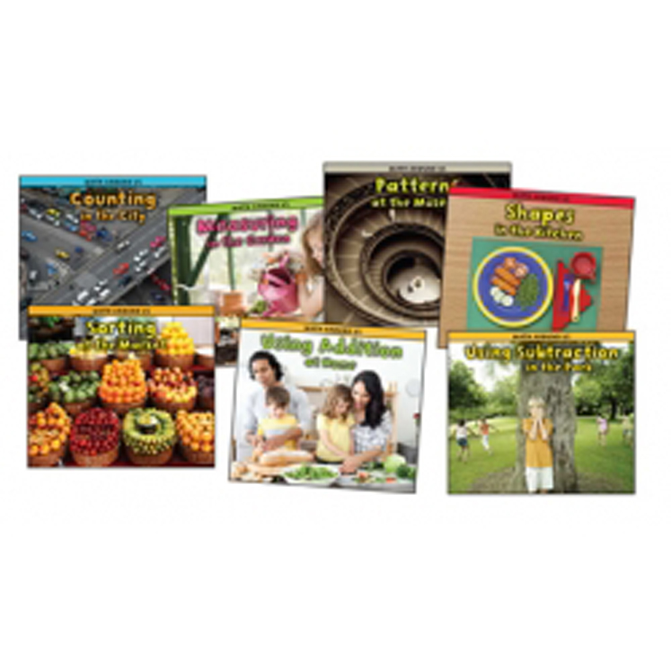Math Around Us Book Set - Set of all 7