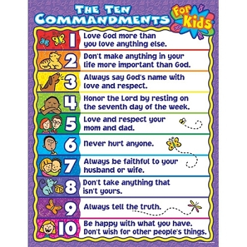 The Ten Commandments for Kids Chart