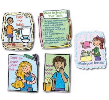 Hygiene: Kid Drawn Bulletin Board Set