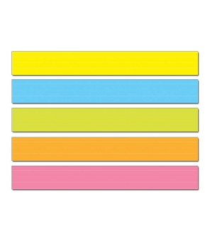 Lined Multicolored Sentence Strips