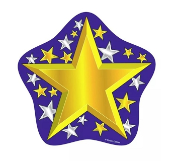 Gold and Silver Stars - Cut-Outs