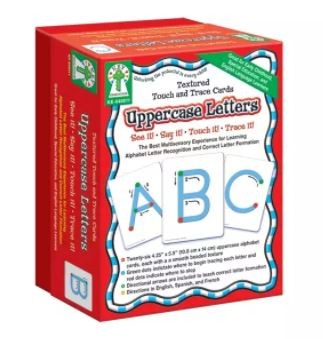 Uppercase Letters, Textured Touch and Trace Cards