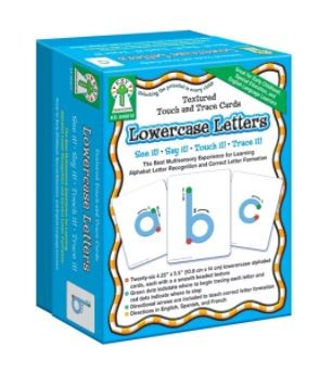 Lowercase Letters, Textured Touch and Trace Cards