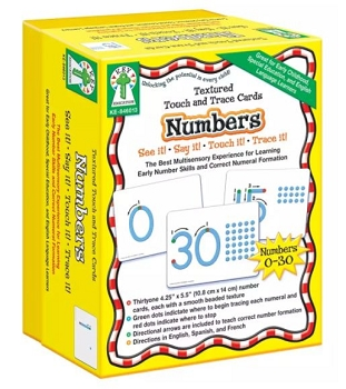 Numbers, Textured Touch and Trace Cards