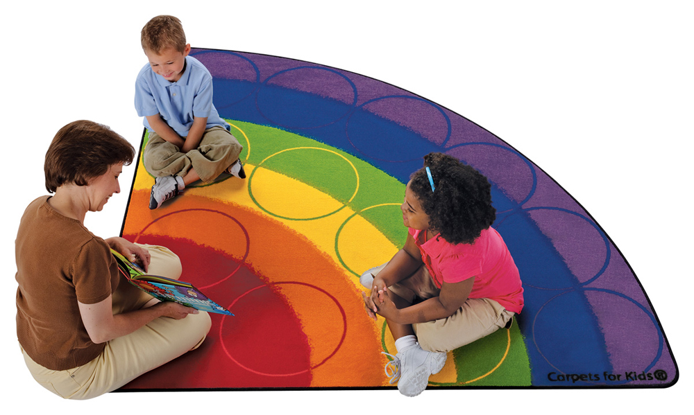 Rainbow Rows Seating Rug - 2 Sizes