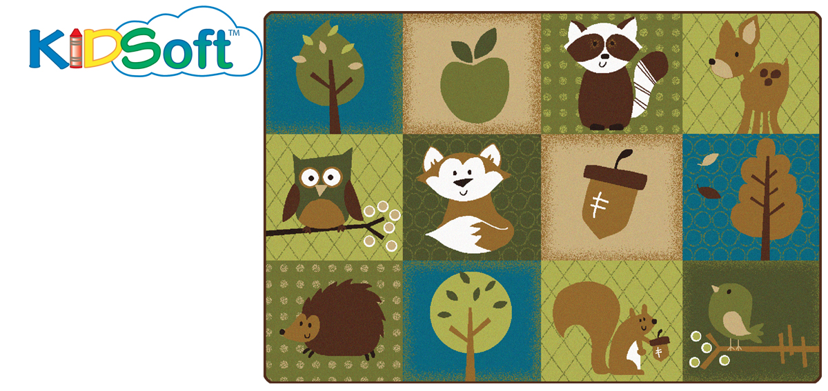 Nature's Friends Toddler Rug | 4' x 6' | 6' x 9'