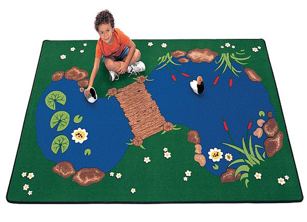 The Pond Rug Rectangle - 3 Sizes