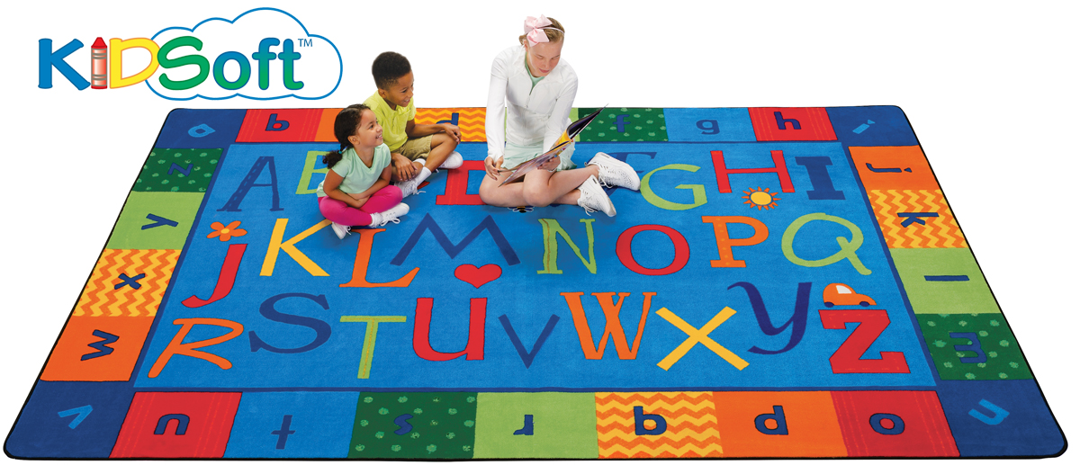 Alphabet Around Literacy Rug | 4' x 6' | 6' x 9' | 8' x 12'