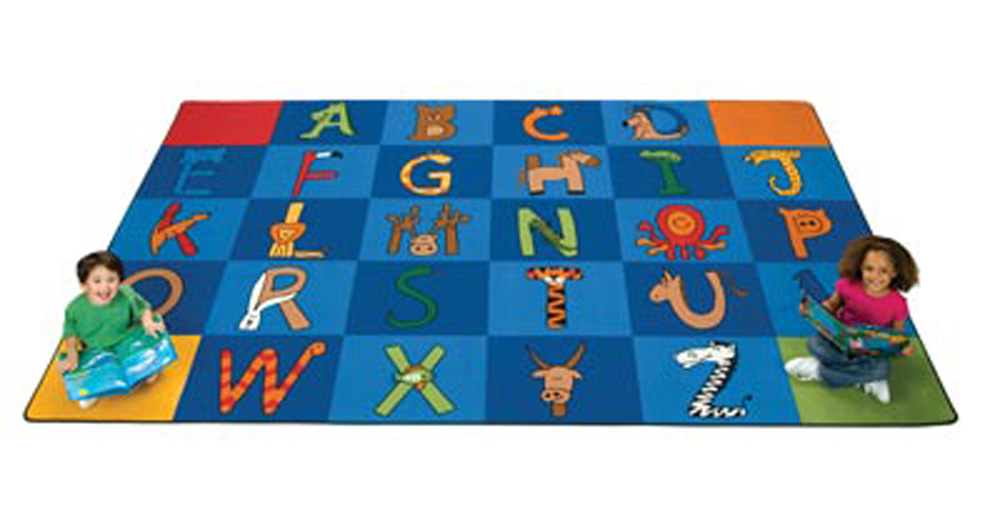 A to Z Animals - Rectangle - 2 Sizes