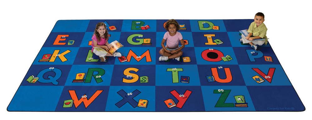 Reading Letters Library Rug - 2 Sizes