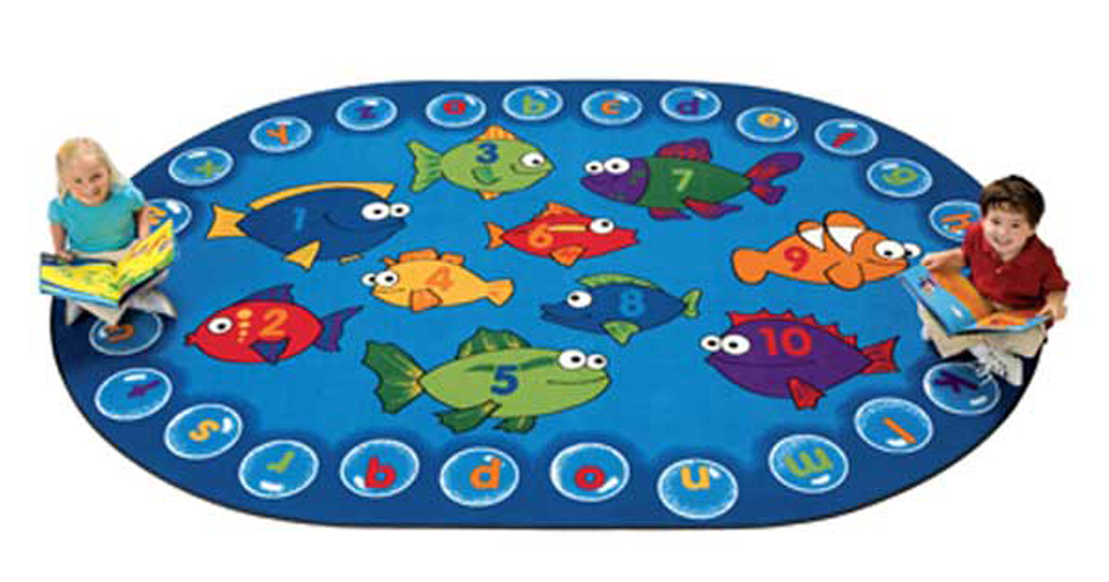 Fishing for Literacy - Oval - 4 Sizes