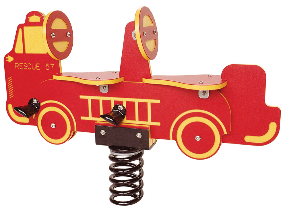 Spring Rider Double Seat-Fire Truck