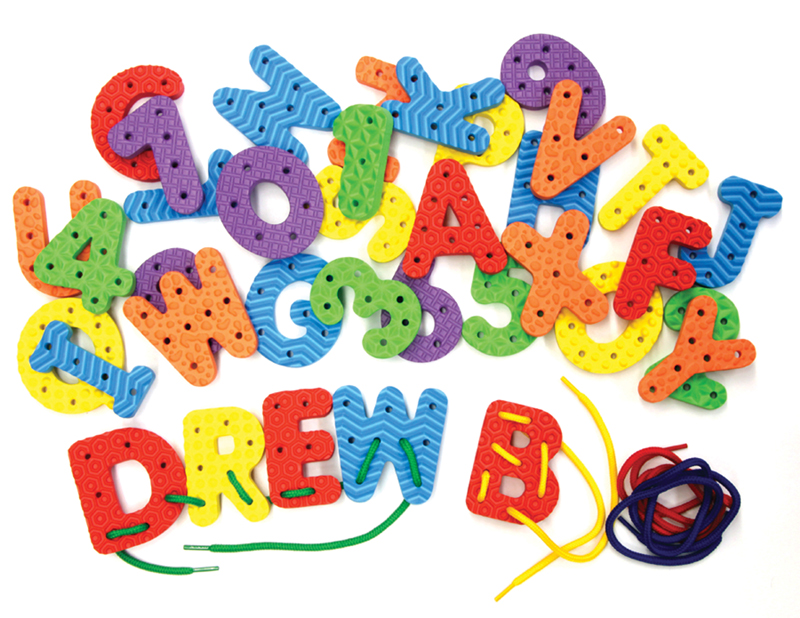 WonderFoam Lacing Letters & Numbers
