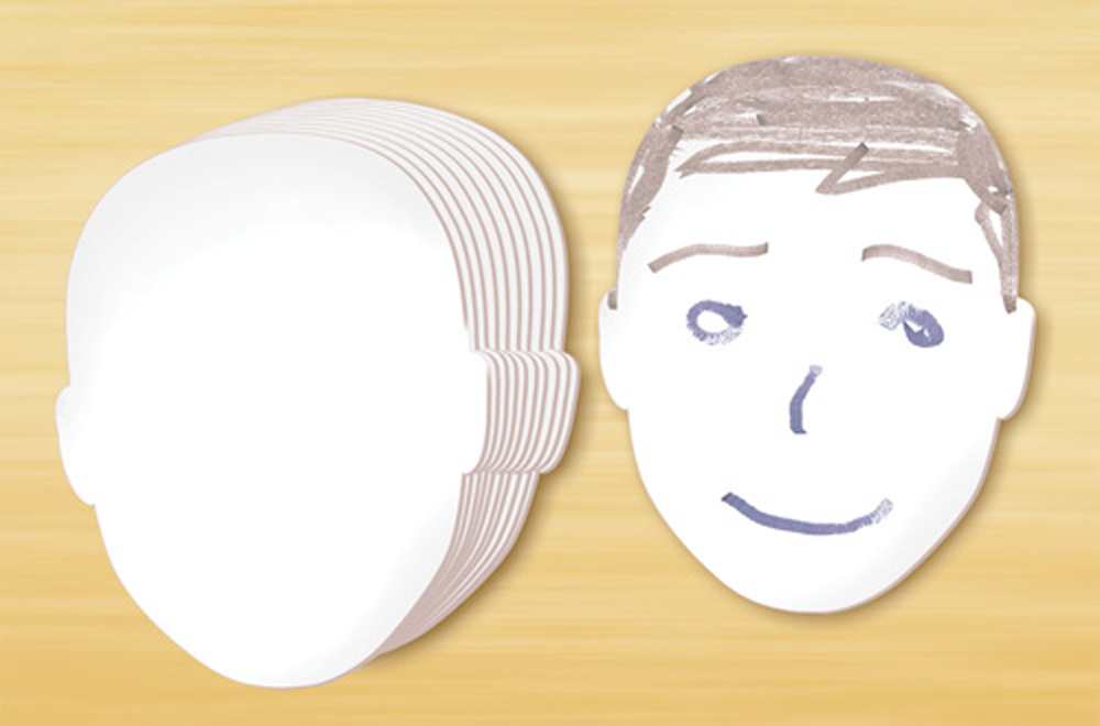 Whiteboard Face Shapes - Set of 10