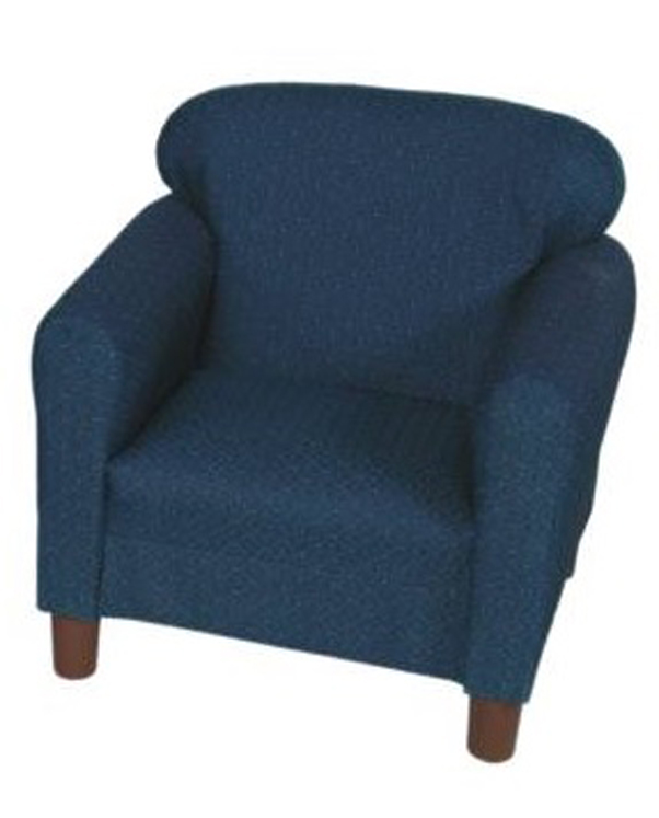Preschool Blue Pin Dot Chair