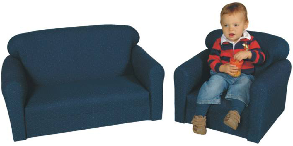 Toddler Size Blue Pin Dot - 2 Piece Furniture Set