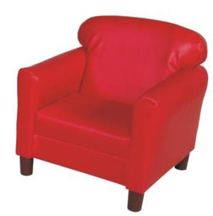 Preschool Red Vinyl Chair