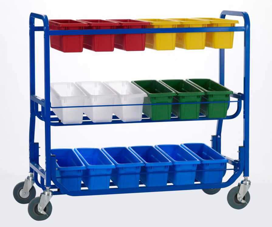 Library on Wheels Cart with Standard Tub Set