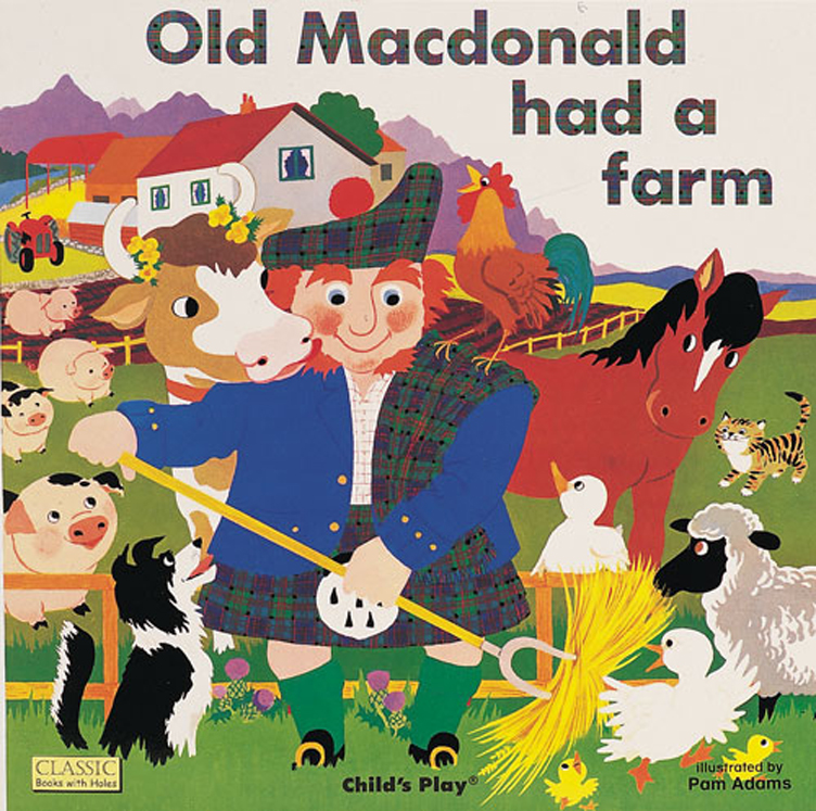 Classic Books-with-Holes Soft Cover, Old MacDonald had a Farm