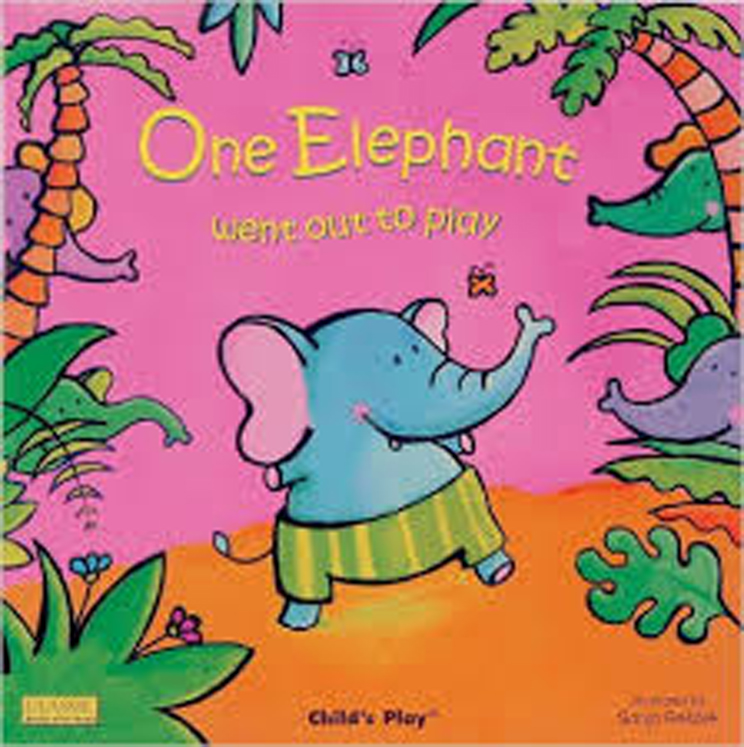 One Elephant Classic Board Book with Holes