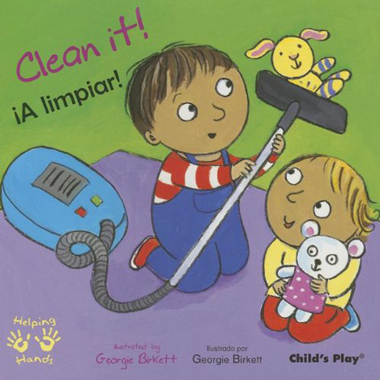 Clean It! - English/Spanish Bilingual - Board Book