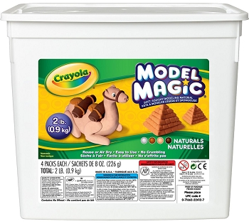 Crayola Model Magic 2-lb - Natural Colors, 8 oz - 4-Pack