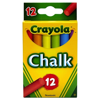 Crayola Multi-Colored Children's Chalk - 12 Count