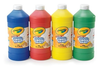 Washable Finger Paint, 32 oz - Choice of 6 colors
