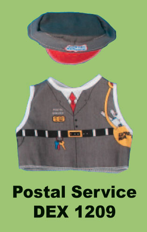 Postal Worker Doll and Teddy Bear Costume
