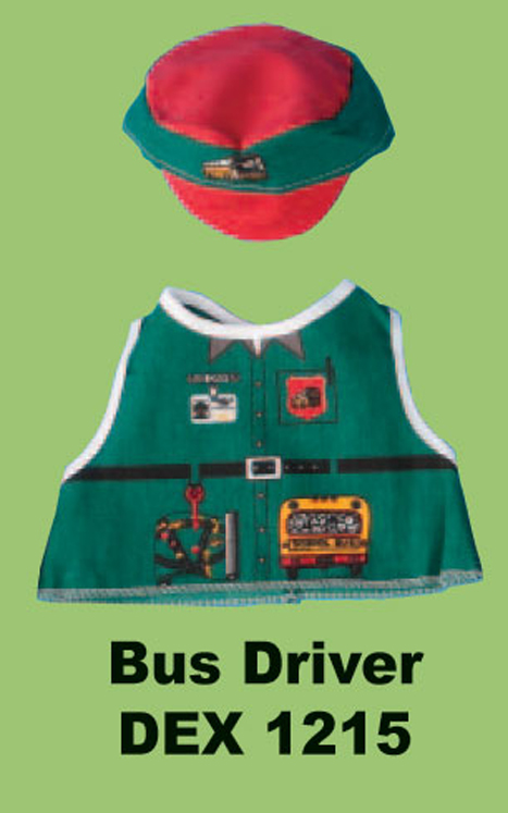 Bus Driver Doll and Teddy Bear Costume
